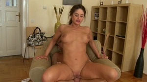 Mike in Brazil: Bald & petite Katia Oliveira getting a facial