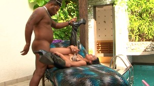 Mike in Brazil - Latina Alessandra Lins pussy eating