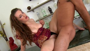 Cum Fiesta: Brunette Allison Grey pussy eating at the party