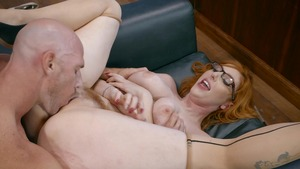 Big Tits at Work - Naked Lauren Phillips needs ramming hard