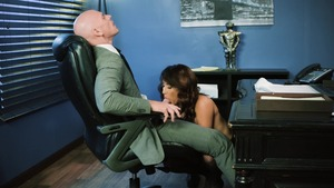 Big Tits at Work - Busty Isis Love spanking cumshot
