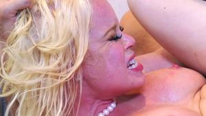 Big Tits at Work - Pale Nikki Delano reverse cowgirl fingering