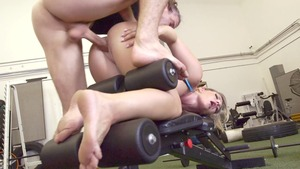 Big Tits in Sport - Cali Carter starring Mick Blue in the gym