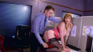 Big Tits at Work: Rough sucking cock with Lauren Phillips