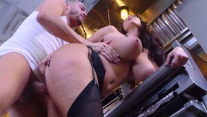 Big Tits at Work: Ava Addams spanking sex tape