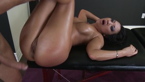 Brazzers - Shaved pussy Asa Akira ass fucking in a dress