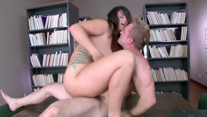 Big Tits at School: Booty Alison Tyler handjob gets ass licked