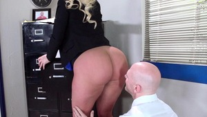 Big Tits at Work - Julie Cash as well as Johnny Sins in office