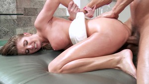 Dirty Masseur: Silvia Saige in POV oily missionary fucking