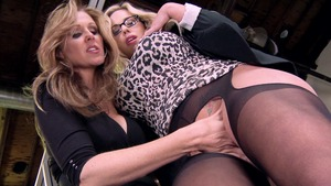 Hot and Mean - Fingering with Julia Ann and Olivia Austin