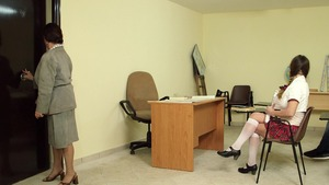 Big Tits at School - Fantasy handjob along with Cathy Heaven