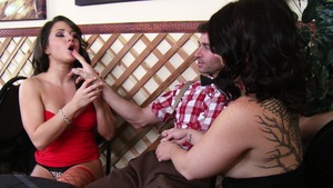 BabyGotBoobs: Sex with James Deen next to slim Charity Bangs