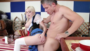 Big Tits in Uniform - Christie Stevens and Mick Blue spanking