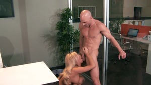Big Tits at Work - Muscled Tasha Reign fingering in office