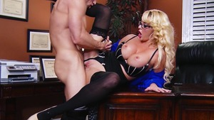 Big Tits at Work: Caucasian Courtney Taylor creampie