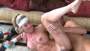 Big Tits in Sport - Mature Brandi Love handjob