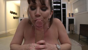 MILFsLikeItBig - European wearing high heels POV blowjob