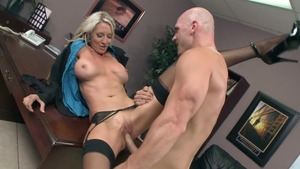 Big Tits at Work - Emma Starr and Johnny Sins face fuck