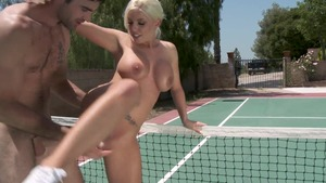 Big Tits in Sport: Blonde Britney Amber fingering