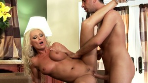 Mommy Got Boobs - Diana Doll amongst Keiran Lee in the kitchen