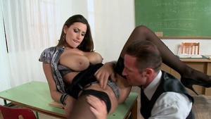 Big Tits at School: Sensual Jane is brown hair brunette