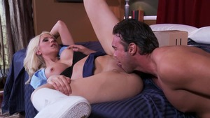Big Tits in Uniform: Jazy Berlin reverse cowgirl sex scene
