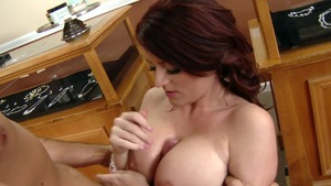 Big Tits at Work - Sophie Dee gagging XXX video