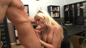 Big Tits at Work - Athletic Britney Amber blowjob