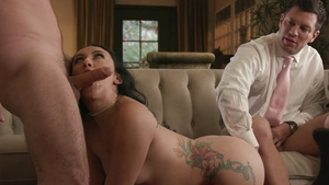 HotWife XXX: Very hawt Mandy Muse plus James Deen hard choke