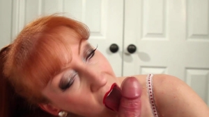 Red XXX - Large boobs MILF rough threesome in hotel